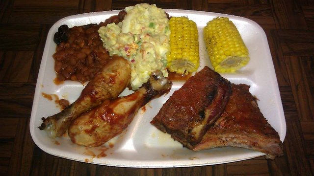 July 4th barbecue dinner