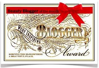 Beauty Blogger & Very Inspiring Award