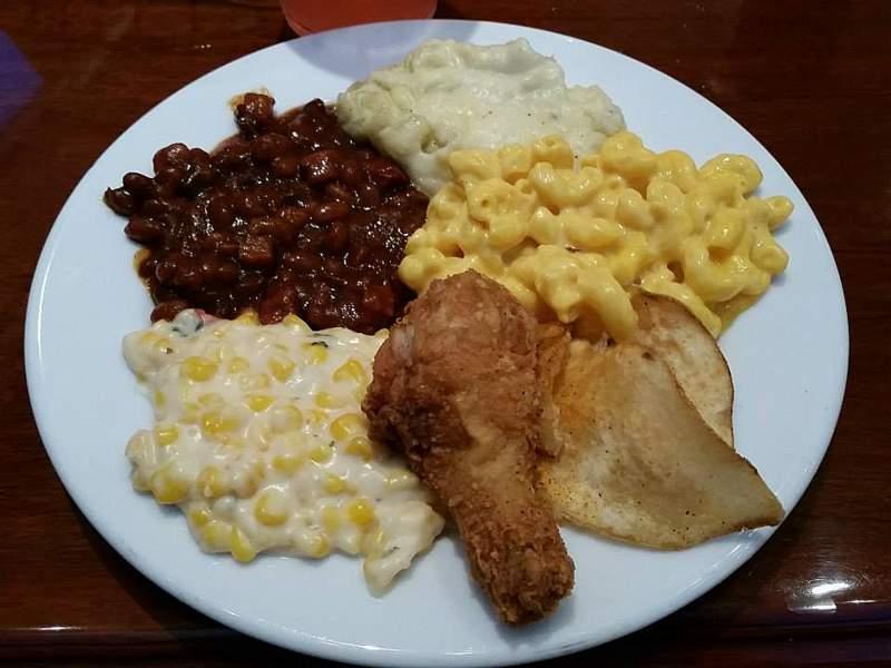 Casino buffet plate